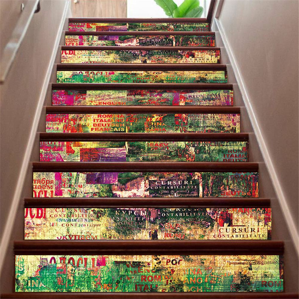 ZB20 Abstract 3d Chinese Style Decorative Wall Sticker Stairway Corridor Sticker