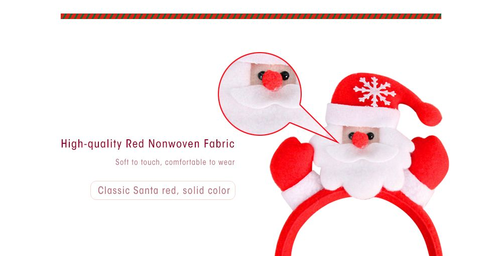 Cute Flashing Christmas Headband LED Headwear for Kids Adults Decoration