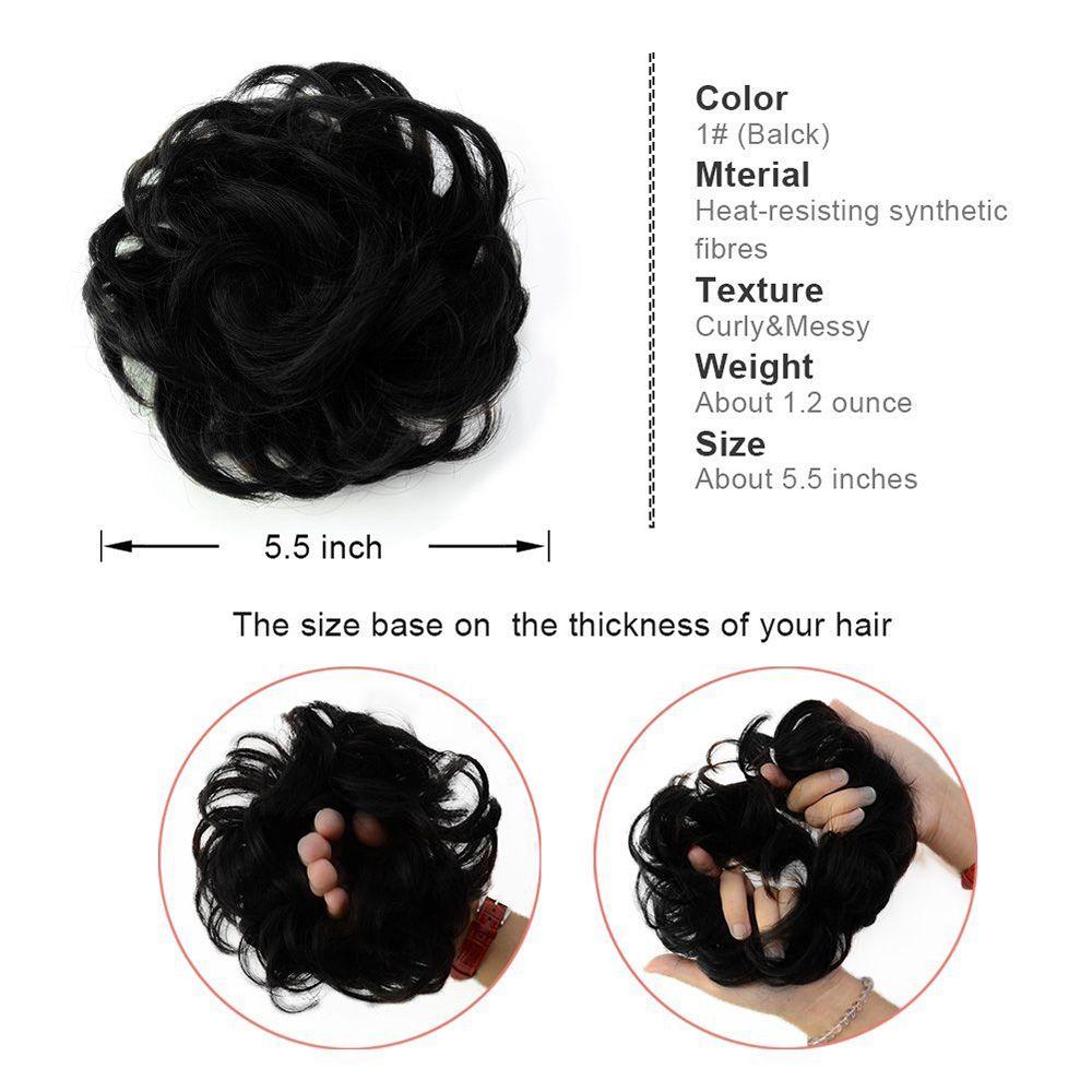 100 Percent Human Hair Scrunchy Scrunchie Bun Up Do Hair Piece Hair Ribbon Extensions