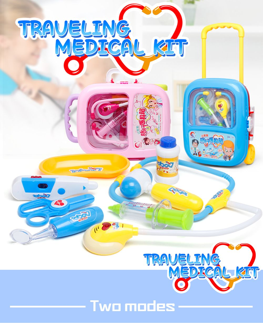 Nurse Doctor Toy Hospital Simulation Kids Baby Funny Play Set Children Gift Medicine Cabinet Role Pretend Play Medic