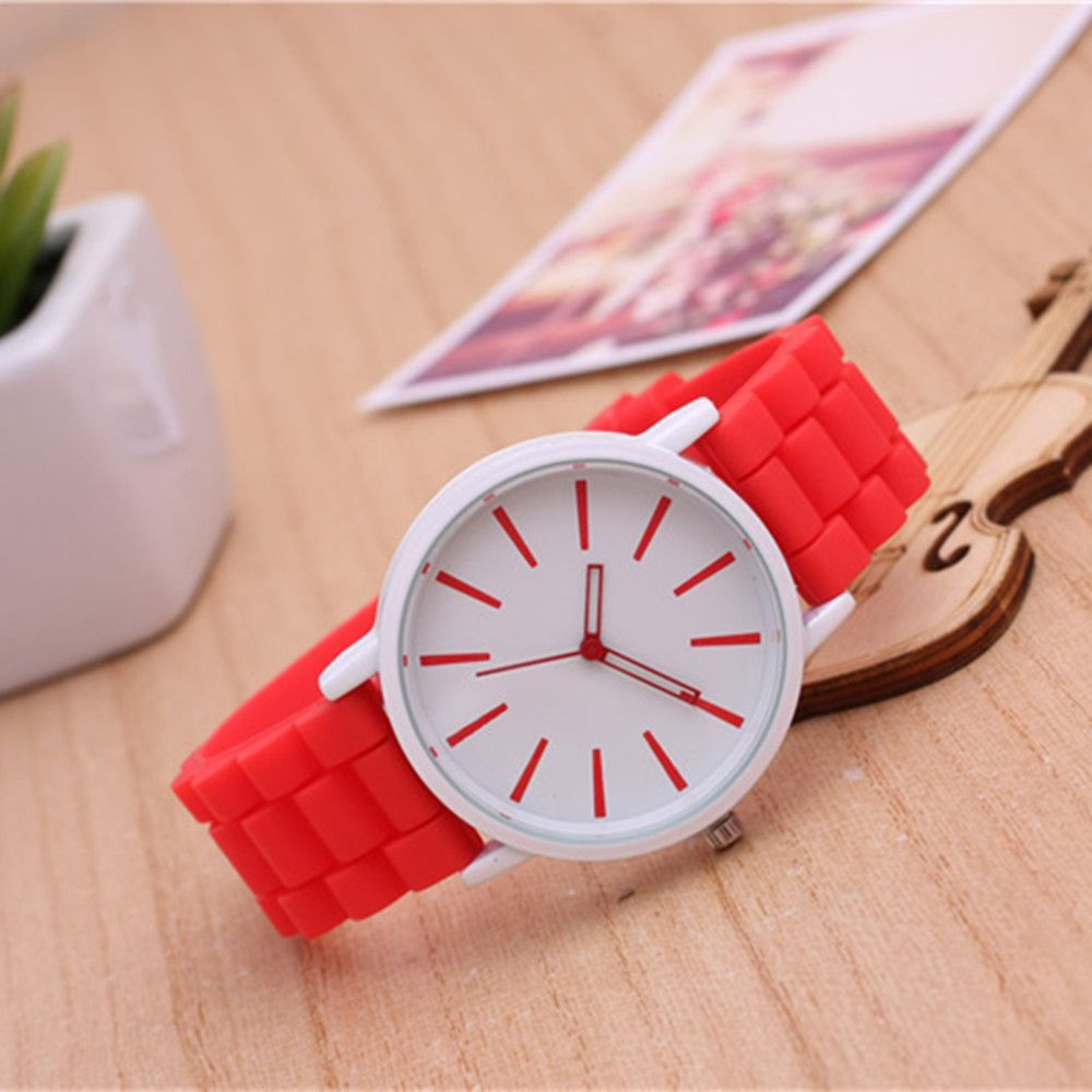 Casual Fashion Good Quality Big Dial Women Men Couples Jelly Silicone Quartz Wristwatch
