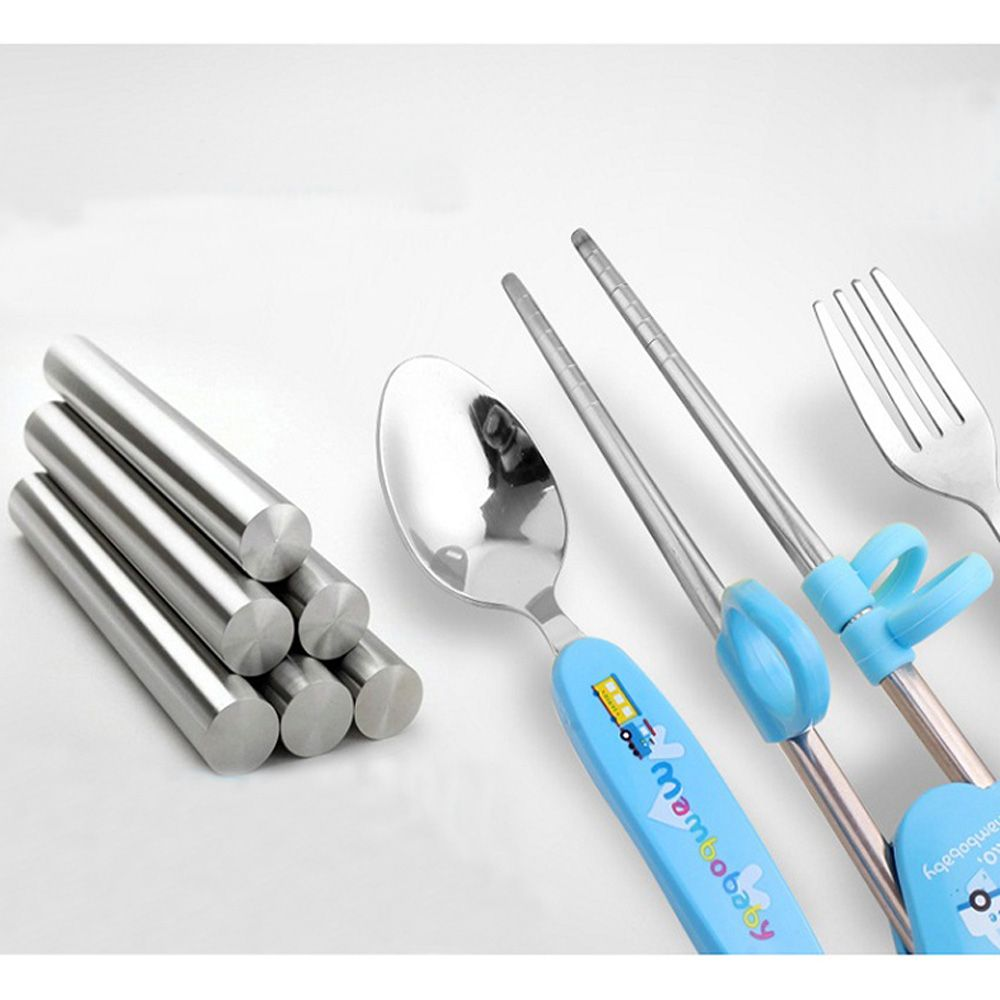 Man Bao baby tableware set Fork spoon chopsticks three-piece suit
