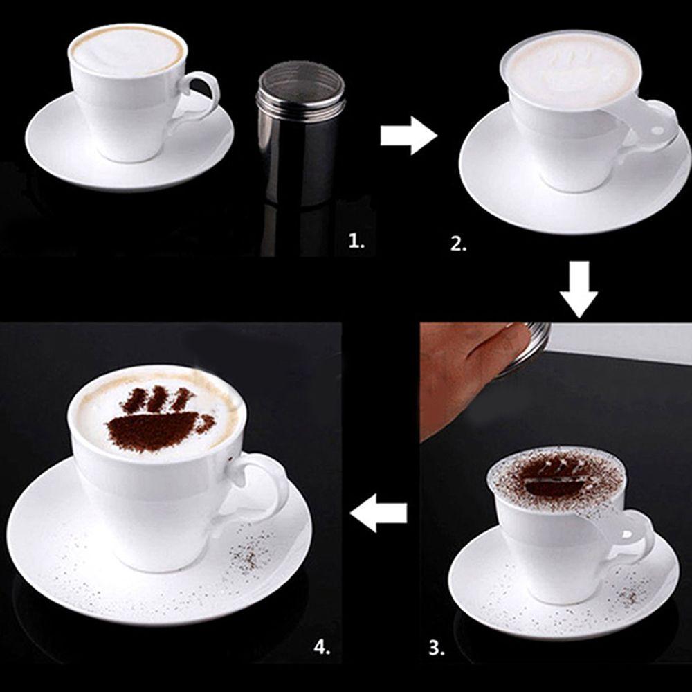 16 Pcs Set New Creative Plastic Garland Mold Fancy Coffee Printing Model Thick Coffee Foam Spray Template