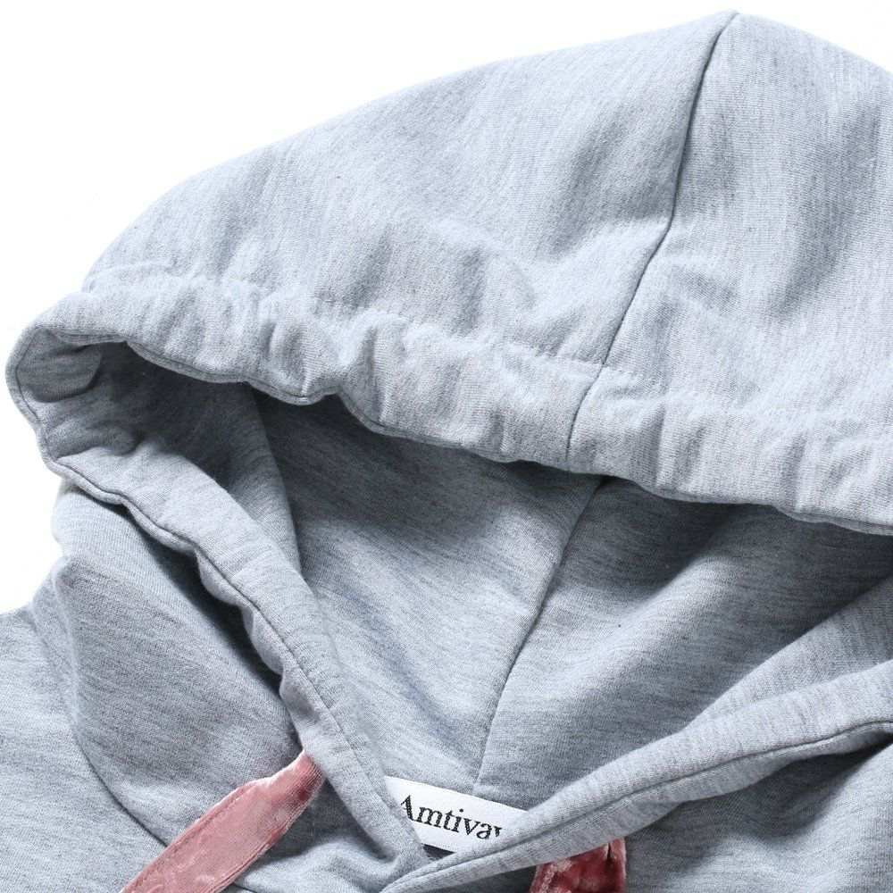 Casual Patched Flare Hoodie Long Sleeve Loose Women's Top