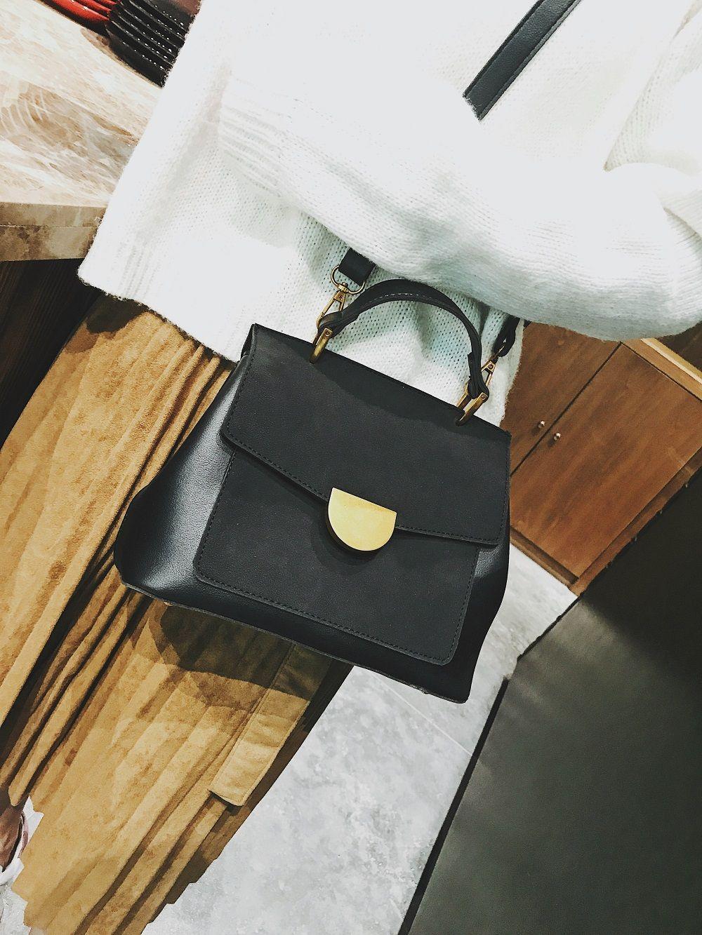 Atmospheric Wild Bag Female 2018 New Fashion Matte Leather Shoulder Messenger Bag Simple Commuter Handbag
