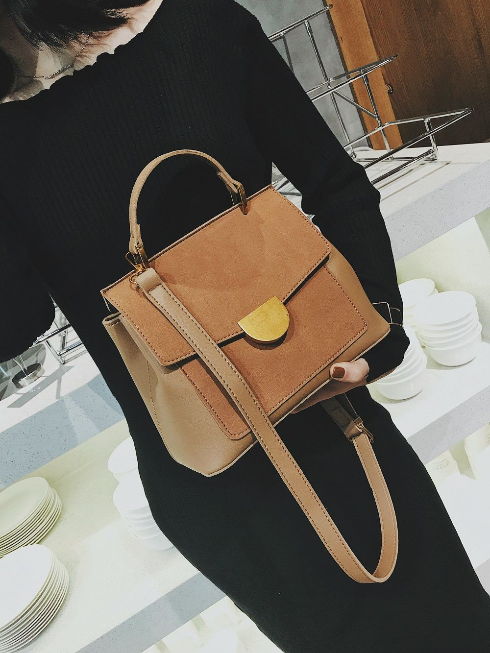 Atmospheric Wild Bag Female 2018 New Fashion Matte Leather Shoulder Messenger Bag Simple Commuter Handbag