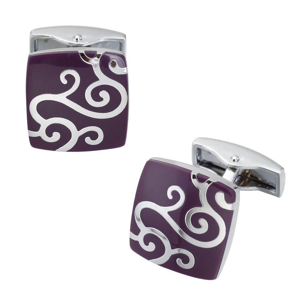 Luxurious Purple Auspicious Clouds Cufflinks