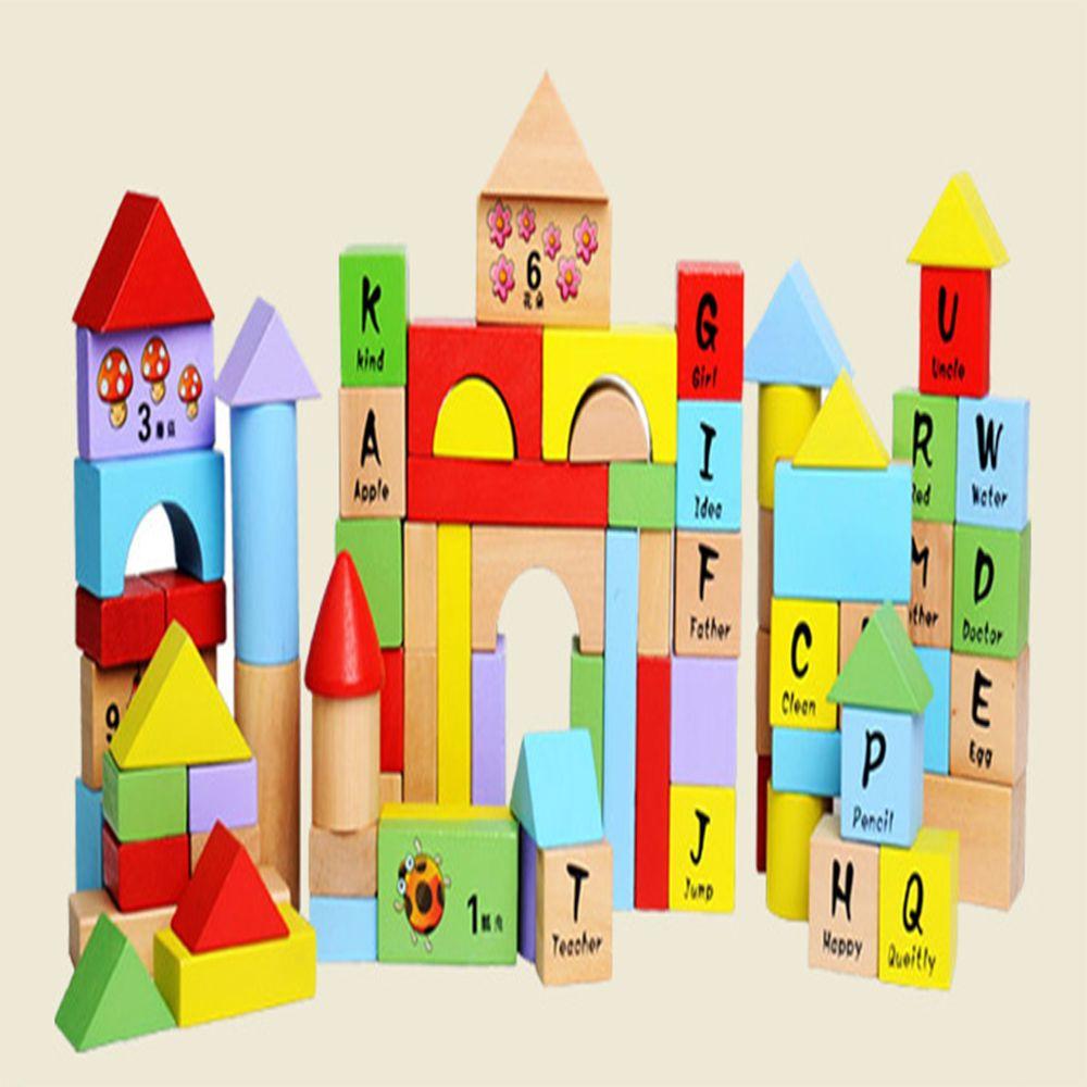 Creative Type 100 - barrel  Beech Wooden Block Children Puzzle Toy English Letter
