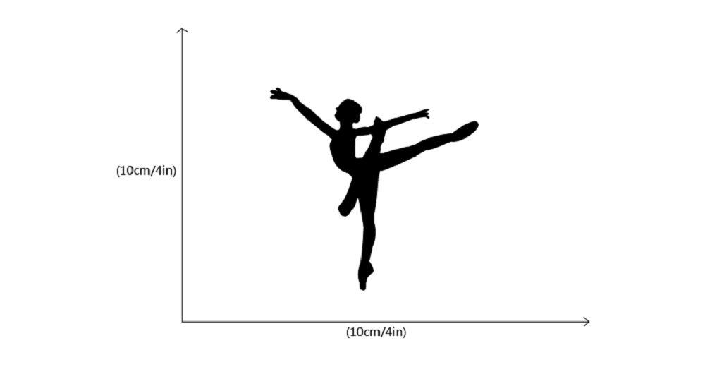 Ballet Dancer Vinyl Switch Sticker Cartoon Silhouette Wall Sticker Home Decor