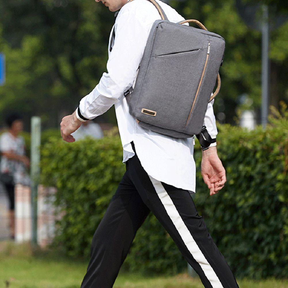 Mens  Waterproof Canvas Coded Lock 15 Inch Backpack Briefcse