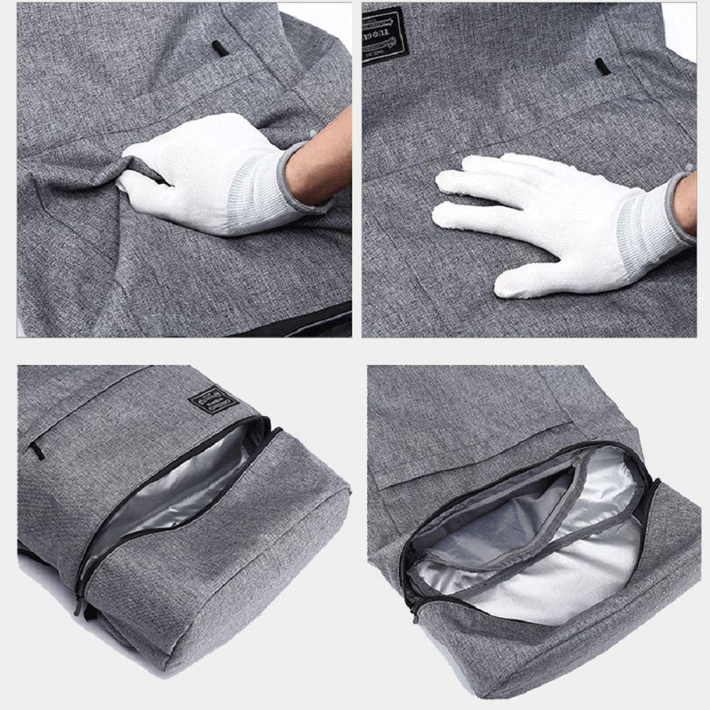 Waterproof Canvas Wet Dry Seperate Travel Bag 15 Inch Backpack