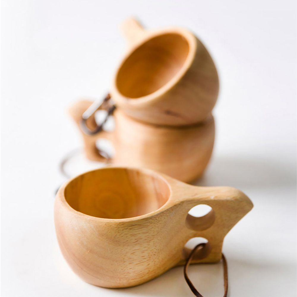 Atongm Rubber Wood Office Milk Cup Coffee Cup