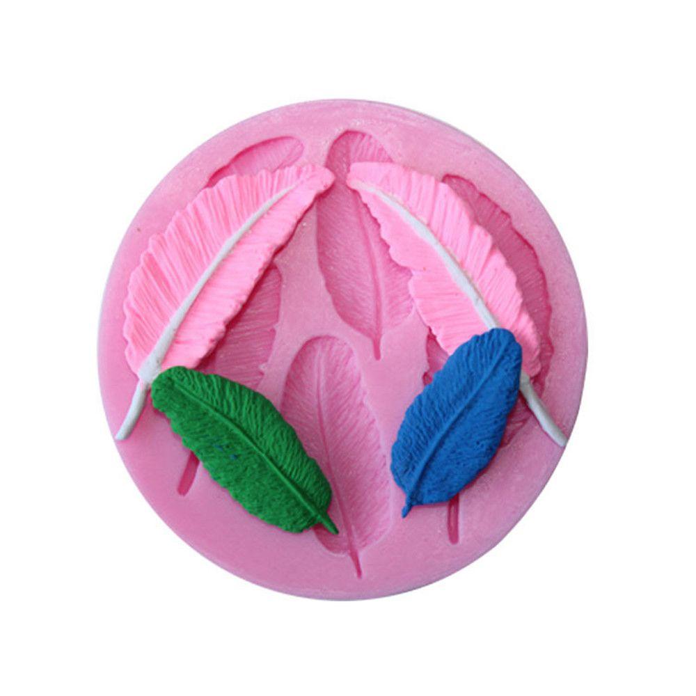 WS 0230 DIY Feather Silica Gel Cake Mold