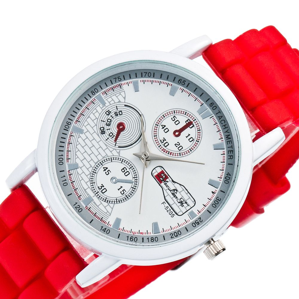 Popular Men and Women Quartz Watch Fashion Style Silicone Strap Neutral Watch with Gift Box