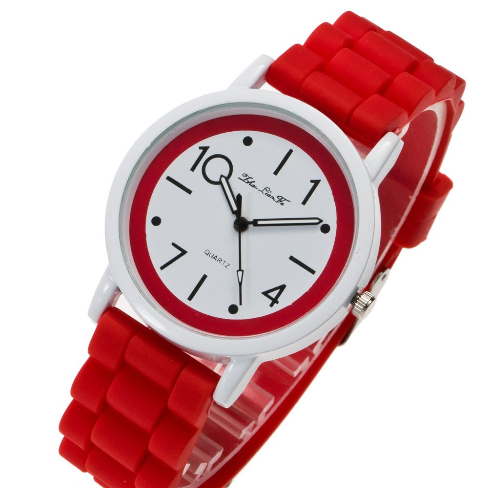 New Popular Watch Cute Minimalist Style Silicone Strap Temperament Classic Watch with Gift Box