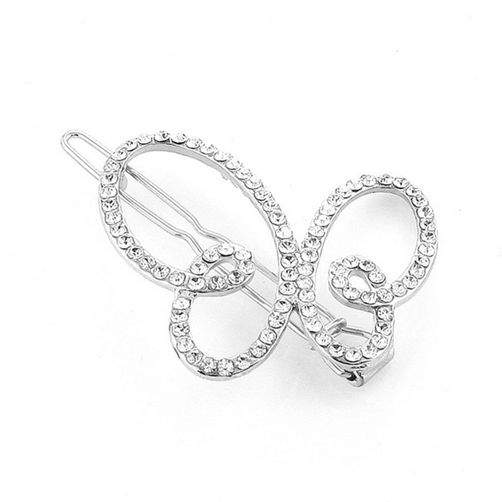 Women's Clip Sweet Sumptuous Rhinestone Inlay Butterfly Accessory