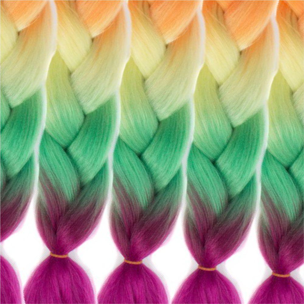 5pcs 4 Tone Ombre Jumbo Braiding Hair Extensions 24 inch Crochet Braids Kanekalon Synthetic Fiber Twist