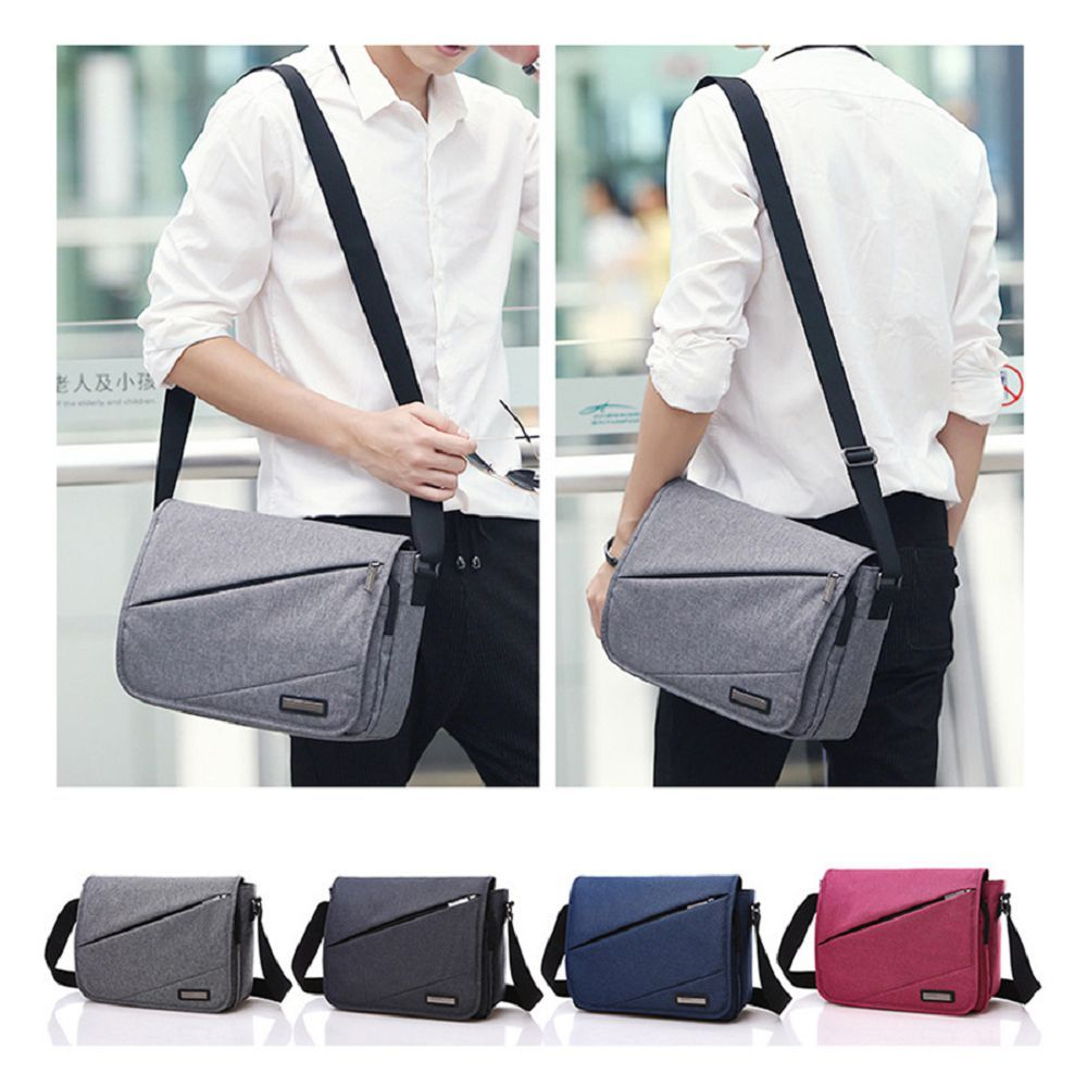 Waterproof Canvas 12 Inch Shoulder Bag Messenger Bag