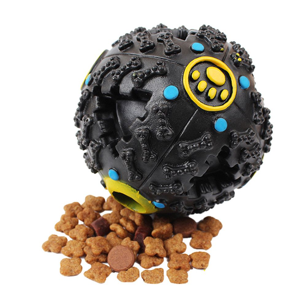 8 CM Hot Sound Leakage Food Ball Dog Toy Pet Shrieking Ball Puzzle Resistant Teeth Bite Toys