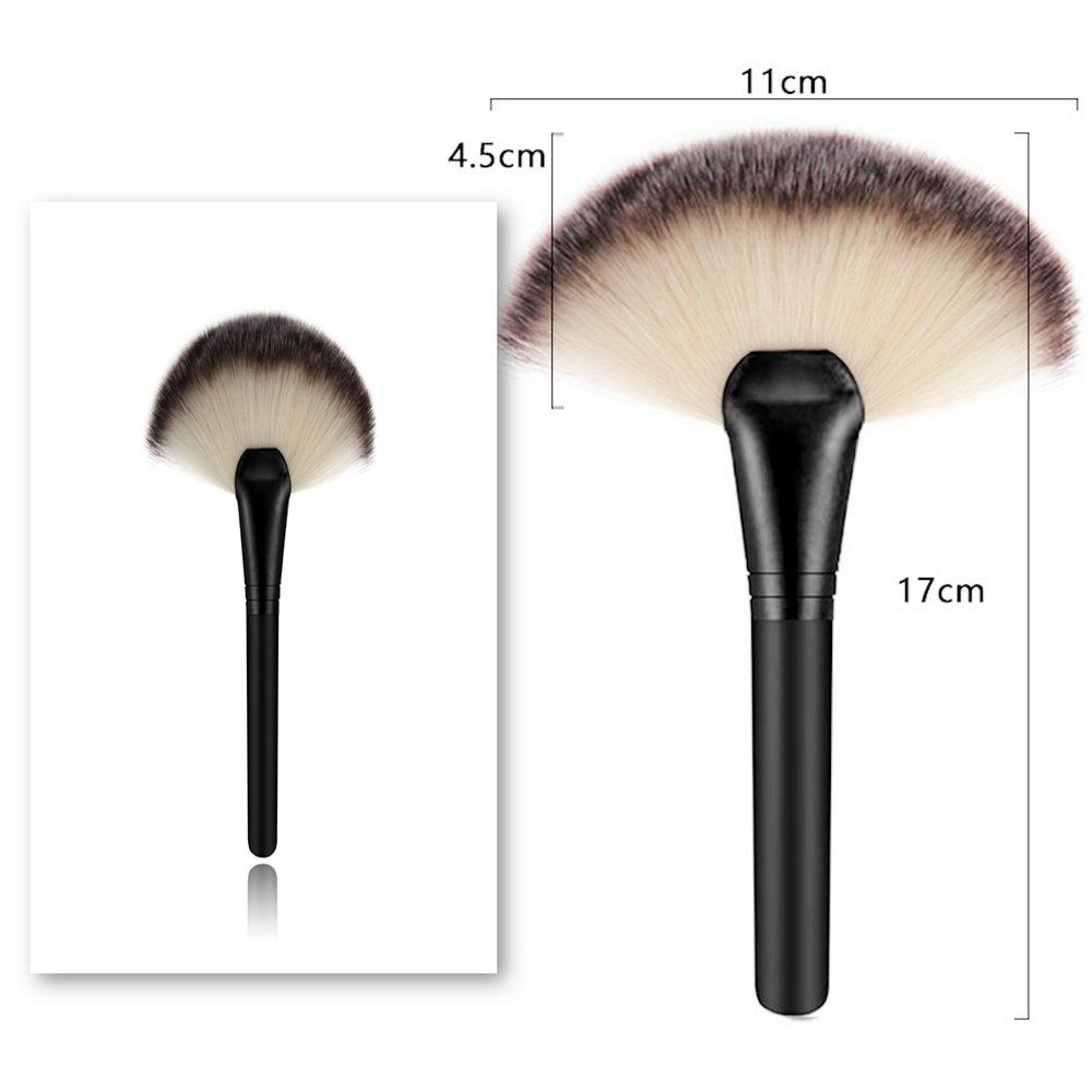 1 Piece BB Cream Powder Blush Blending Brush Highlighter Brush Contour Face Fan Shape Beauty