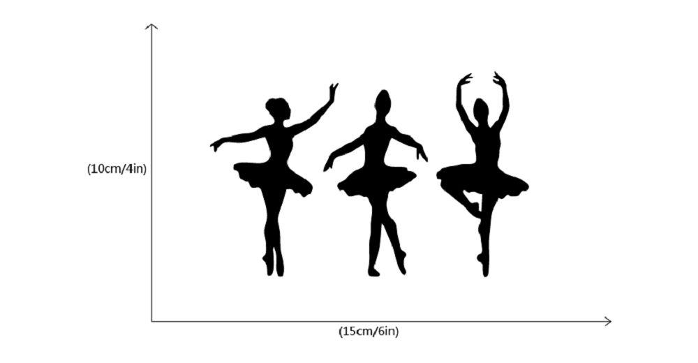 Ballerinas Silhouette Vinyl Light Switch Sticker Ballet Dancer Wall Decal