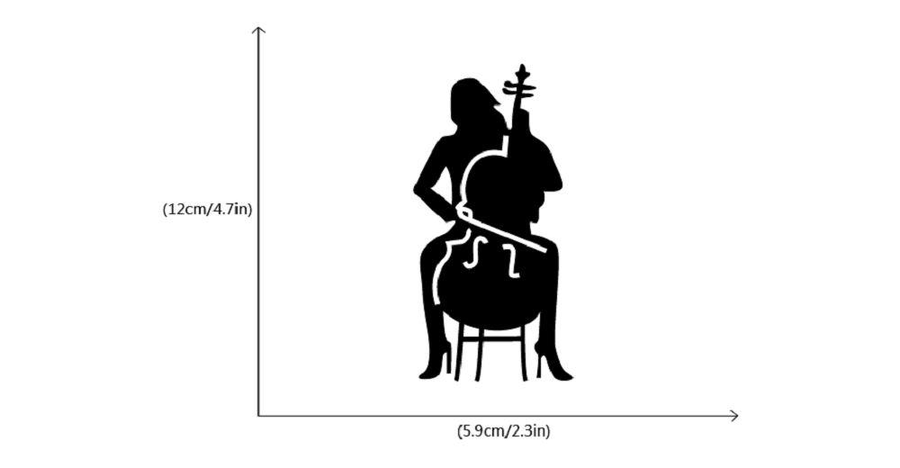 Cello Player Light Switch Sticker Girl Playing Cello Silhouette Vinyl Wall Decor