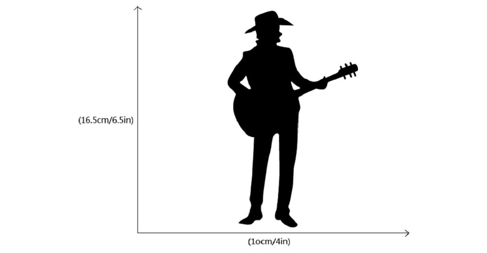 Western Style  Man Playing Guitar Silhouette Switch Sticker Country Music Decal