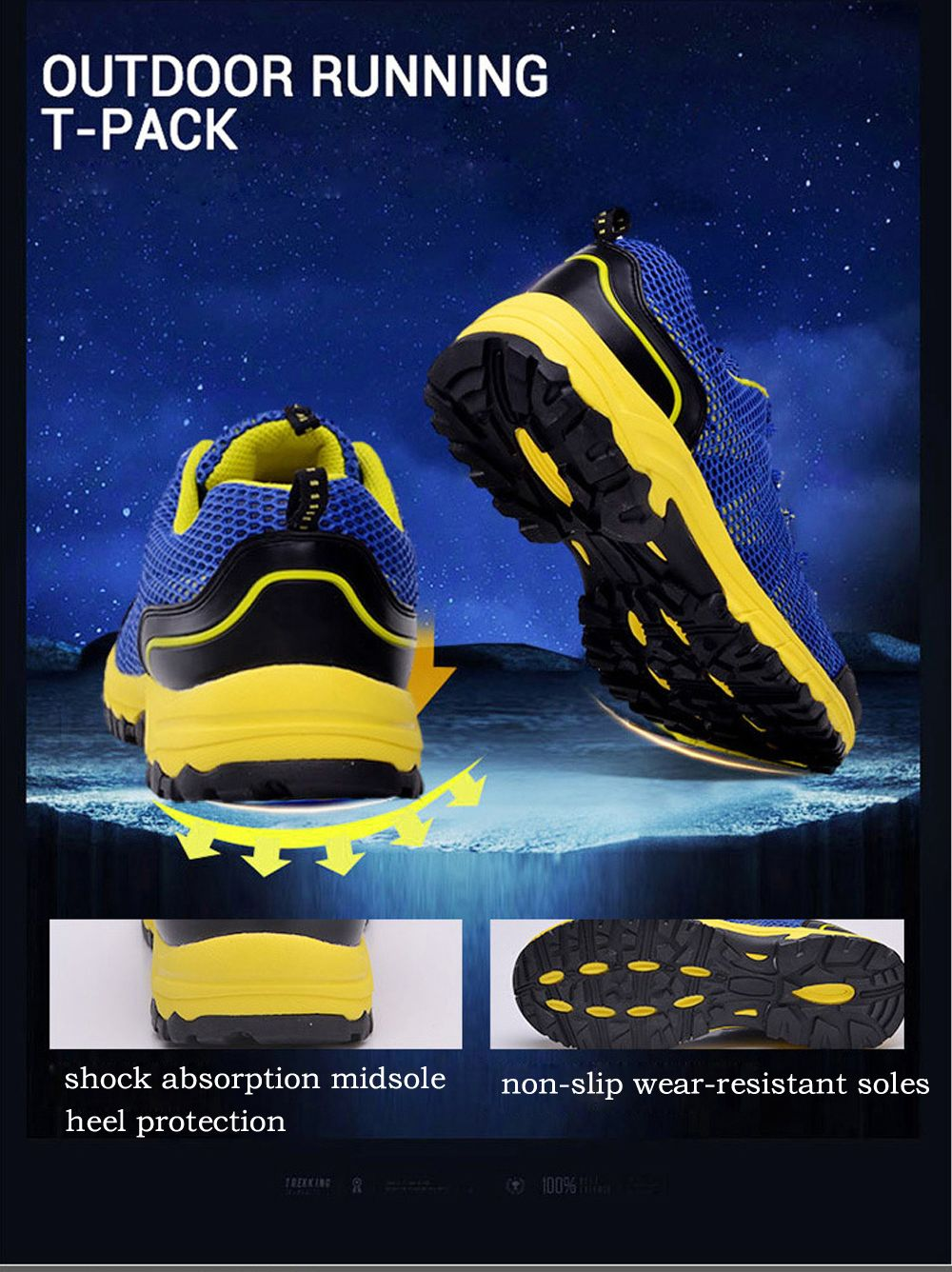 Summer New Casual Outdoor Shoes Men Wear Non-Slip Shoes Breathable Mesh Youth Wild Students Running Shoes