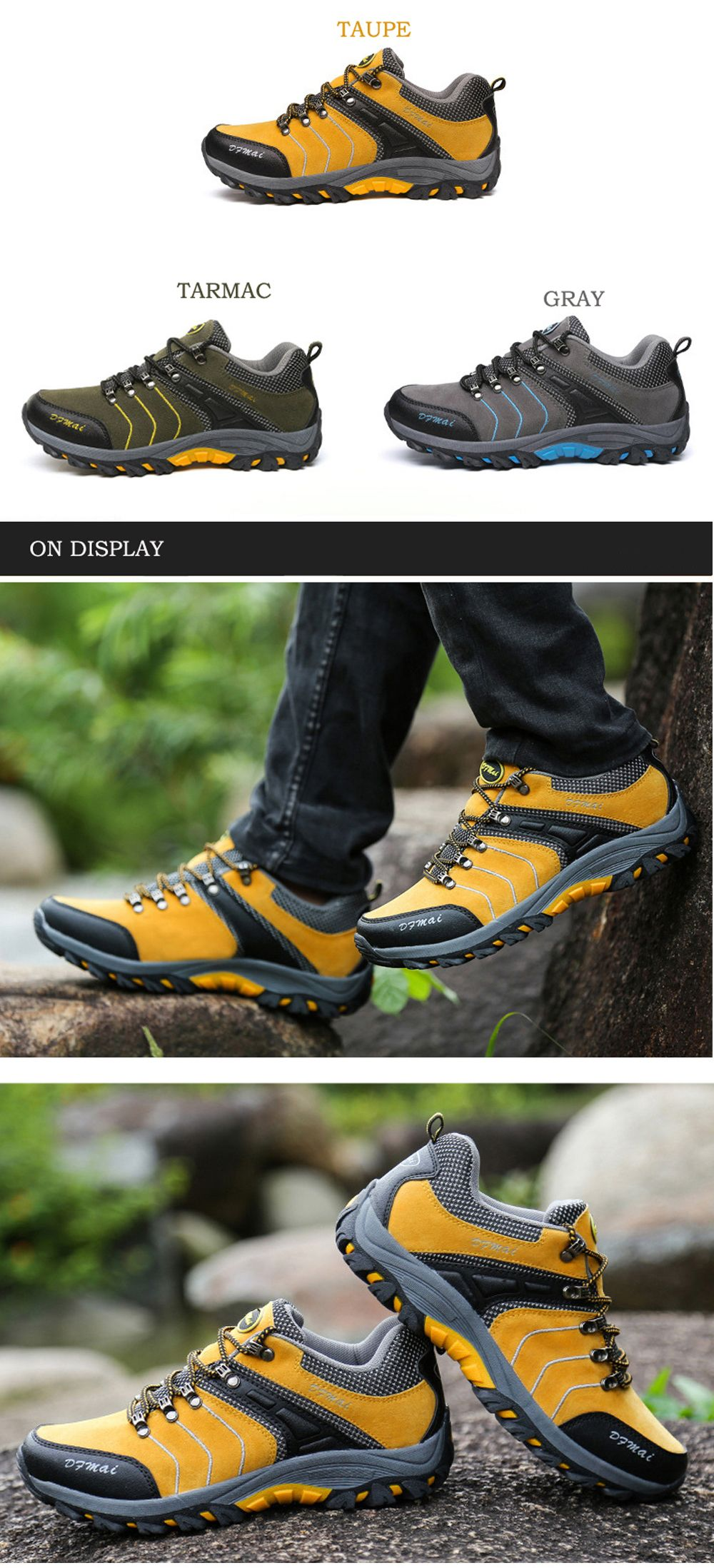 2017 Autumn and Winter New Men'S Hiking Shoes Low To Help Waterproof Hiking Shoes Fashion Sports Outdoor Shoes