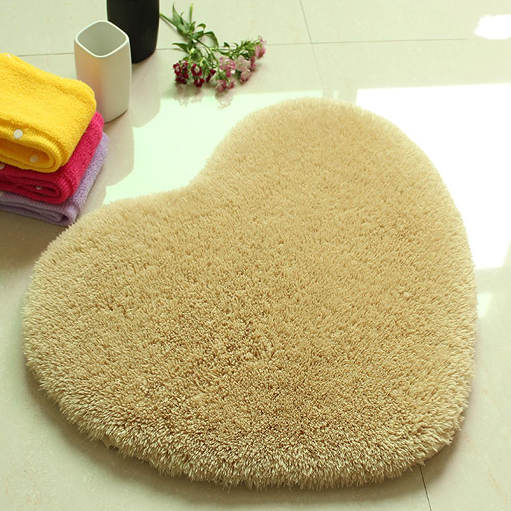 Door Mat Sweet Heart Shape Cute Home Decor Floor Mat