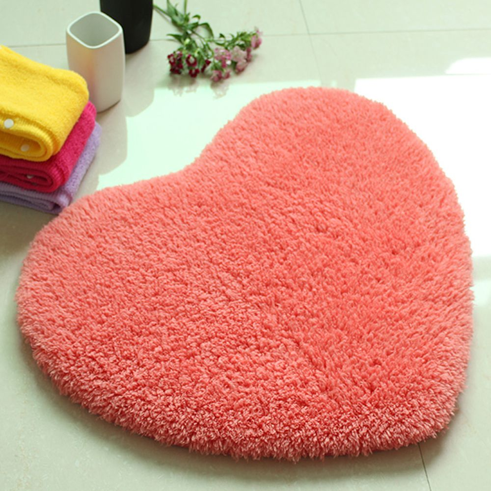 Door Mat Sweet Heart Shape Cute Home Decor Floor Mat3
