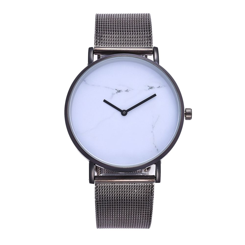 Popular Personality Fashion Quartz Watch Simple Style Nets with Marble Texture Neutral Watch with Gift Box
