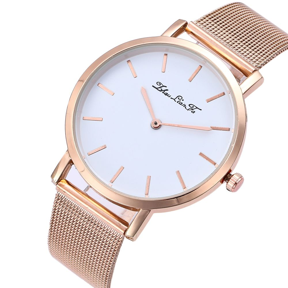 Stylish New Personality Fashion Quartz Watch Men and Women Nets Simple Style Neutral Watch with Gift Box