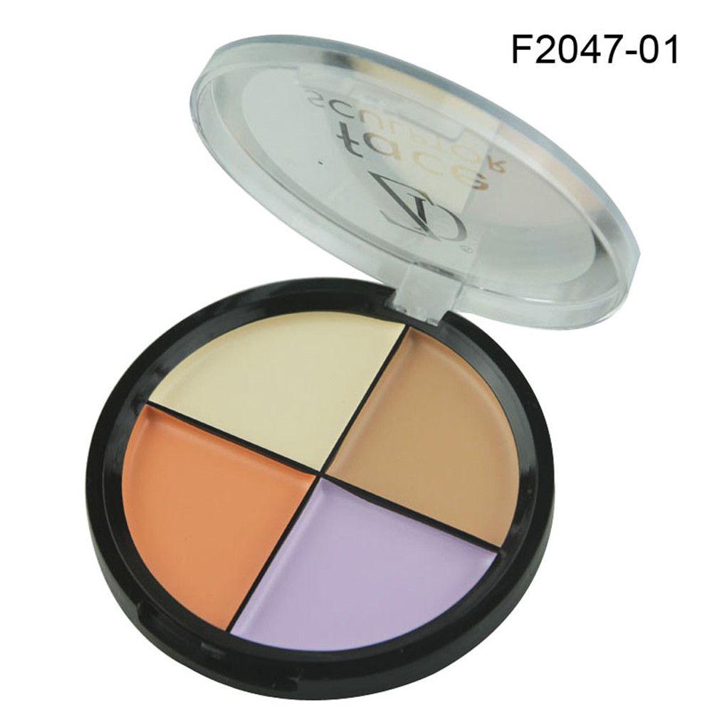 ZD F2047 4 Colors Concealer Palette Waterproof Natural Face Makeup 1PC