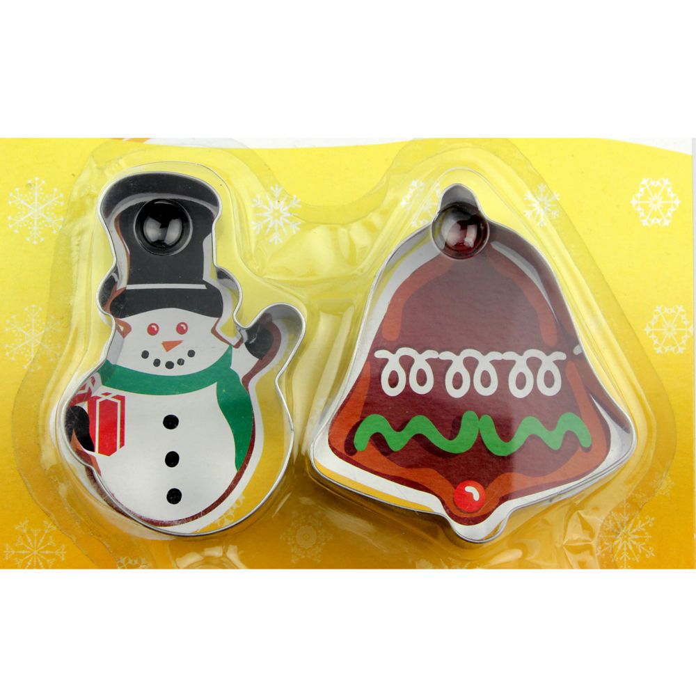 4PCS/SET Christmas Tree Stainless Steel Cookie Mould Fondant Cook Cutters Biscuit Mold Kitchen Baking Tools