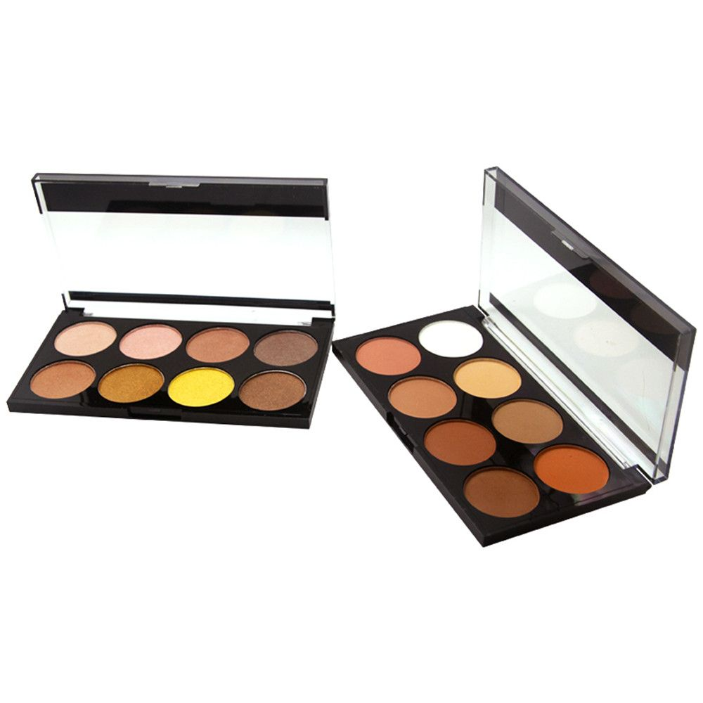 ZD F2086 8 Colors Eye Shadow Palette Shimmer Colorful Eye Makeup 1PC