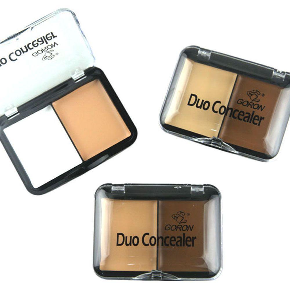 GORON F2016 2 Colors Concealer Palette Face Makeup 3pcs