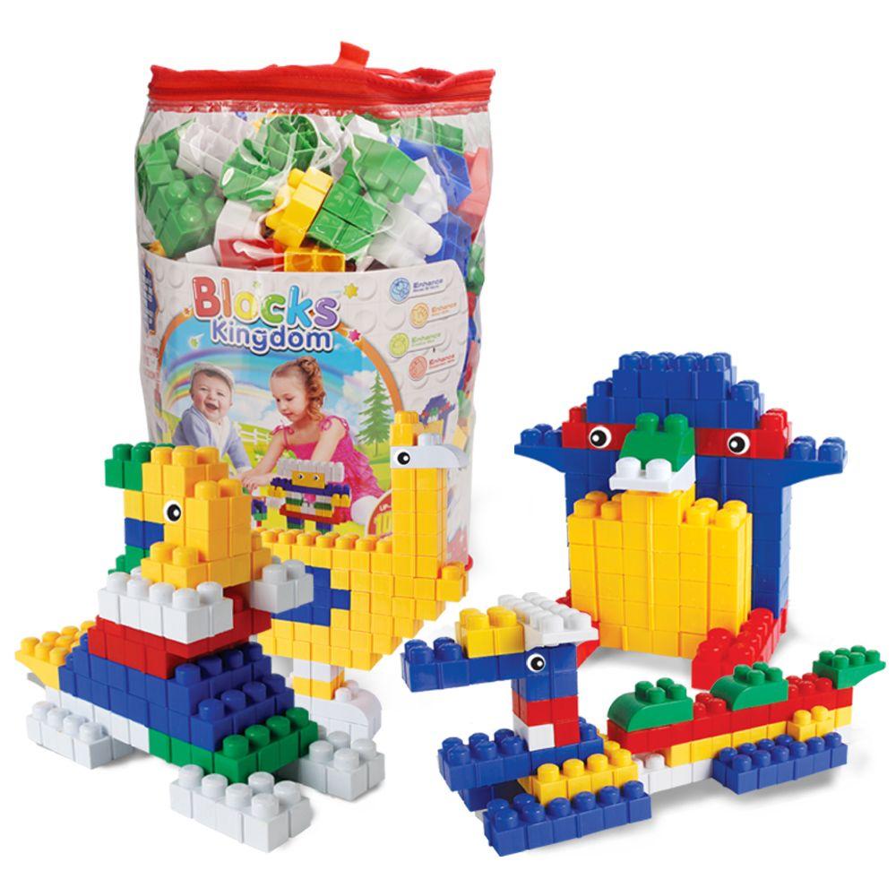 Children big granule plastic early education puzzle piece together DIY building block toys