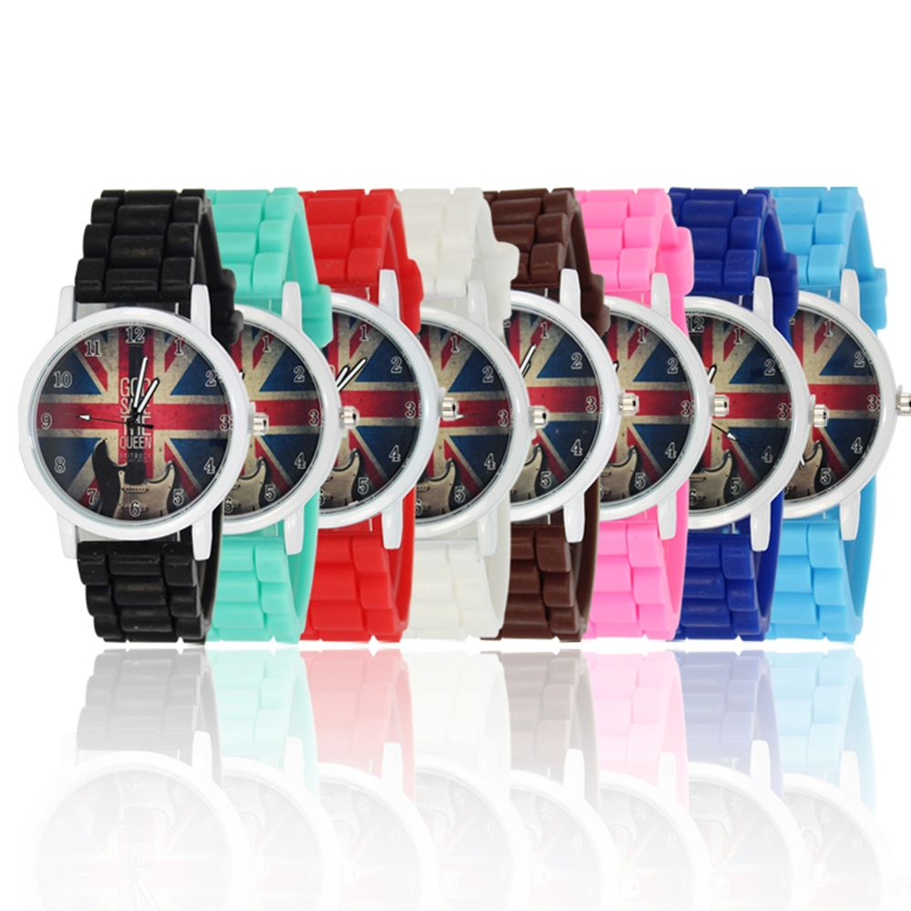 New Simple Fashion Watch Literary Style Watch British Rice Word Shading Silicone Strap with Gift Box