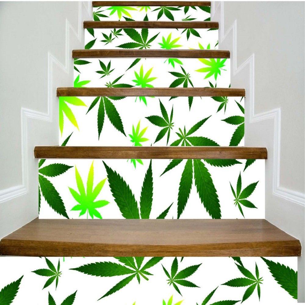 Leaves Pattern Style Stair Sticker Wall Decor LTT032