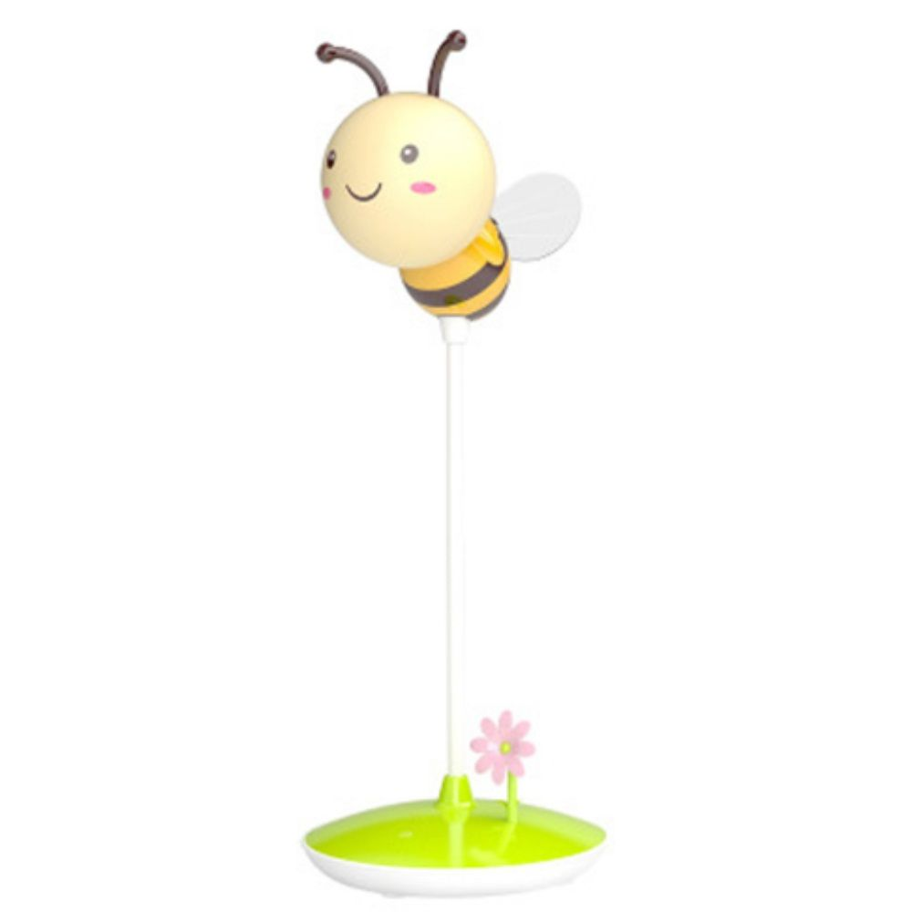 Cartoon Bee LED Lamp USB Charging Touch Dimming Yellow  Light