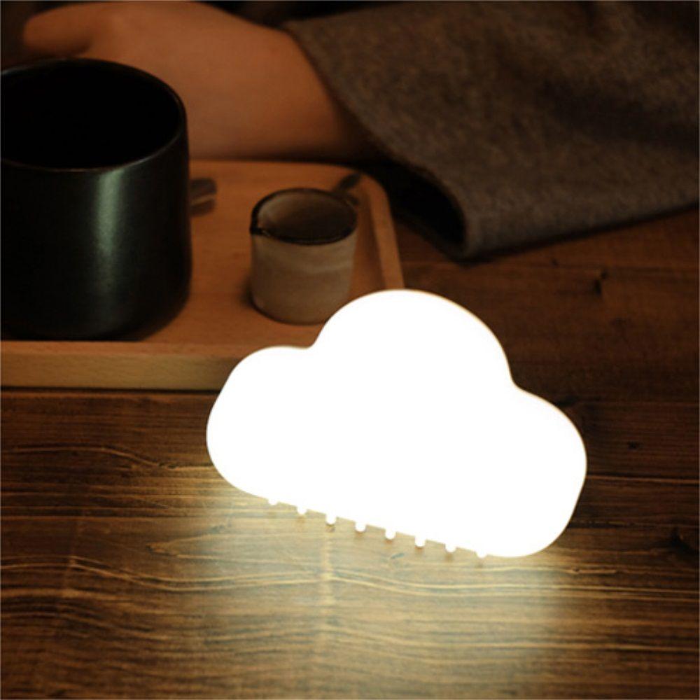 Mini USB Charging Cloud Night Lamp Intelligent Voice Control Sensing LED White