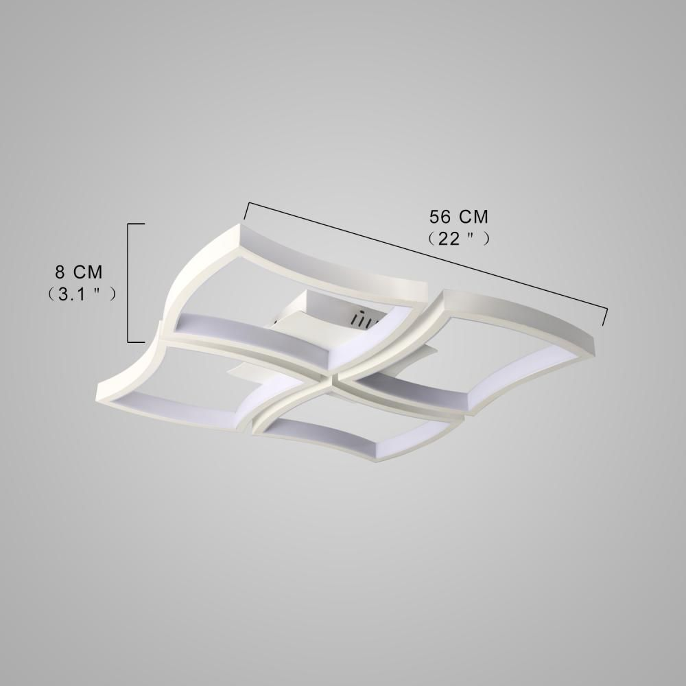 Simple Creative Style LED Flush Mount Ceiling Light Square Combination Shape for Office Meeting Room  Living Bedrooms