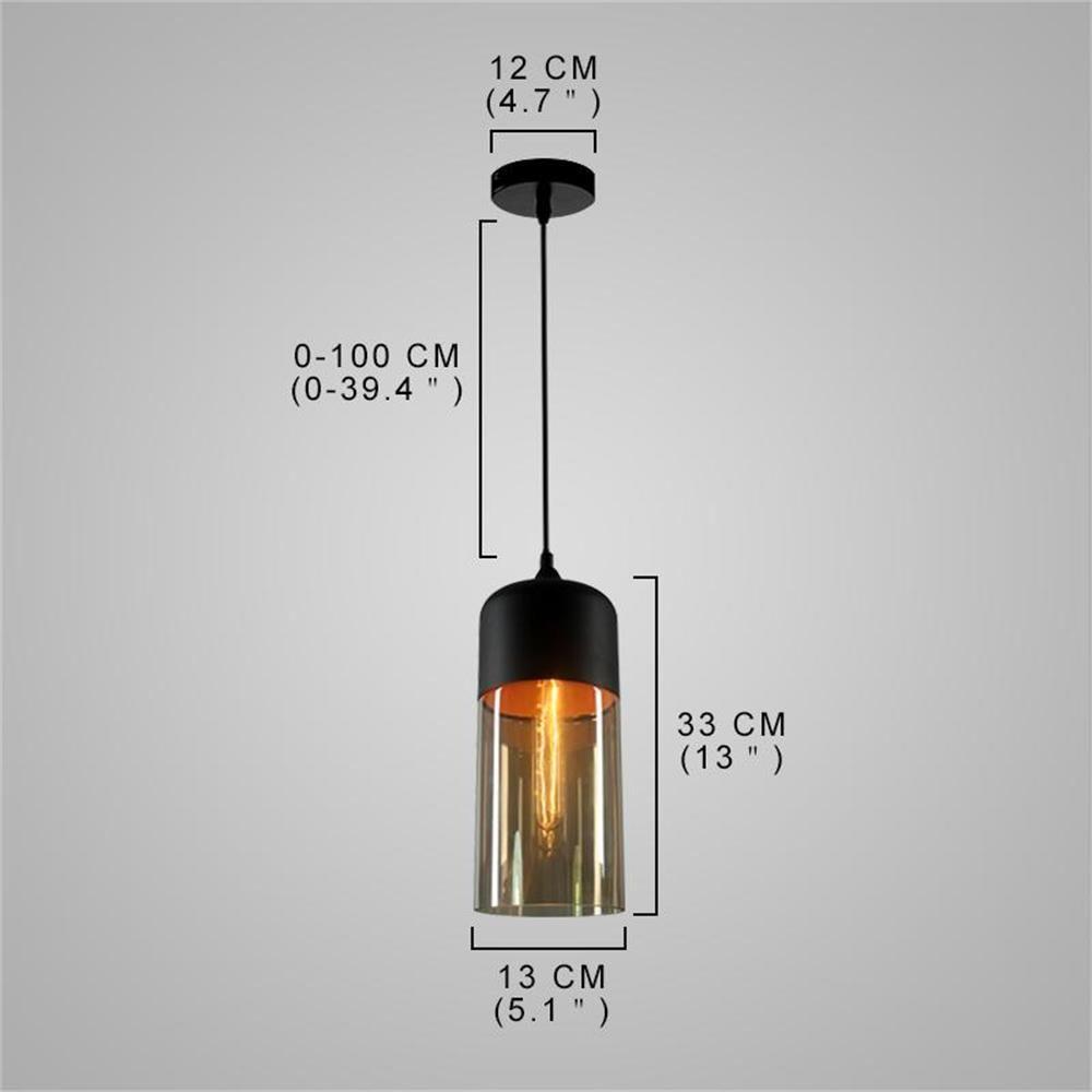 Loft Vintage Industrial Amber Glass Pendant Lamp Fixtures Antique Retro Edison Candy Jar Ceiling Pendant Lights Sha