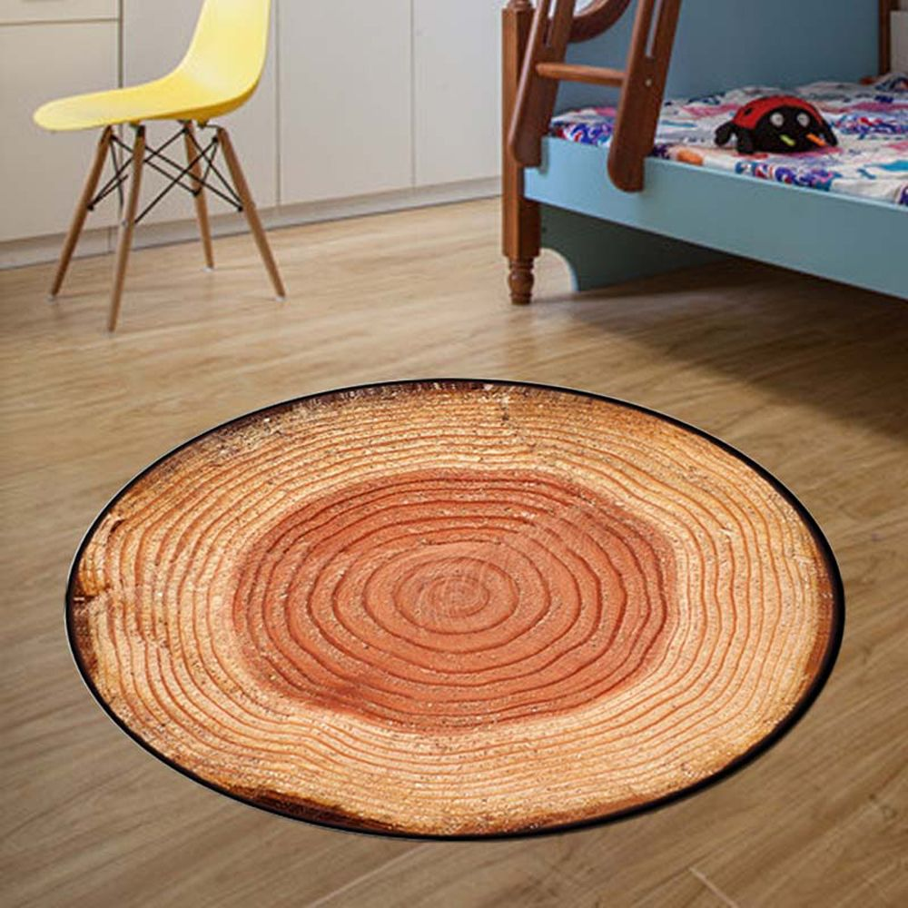 Bedroom Floor Mat Vintage Tree Annual Ring Pattern Soft Home Doormat2