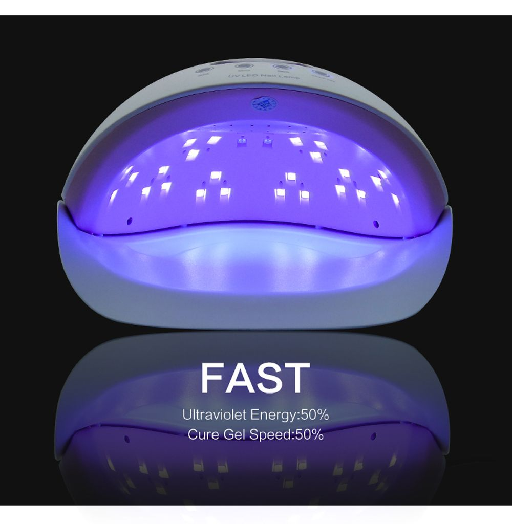 50W Gel Nail Lamp UV LED Dryer Curing Lamps Light Fingernail and Toenail