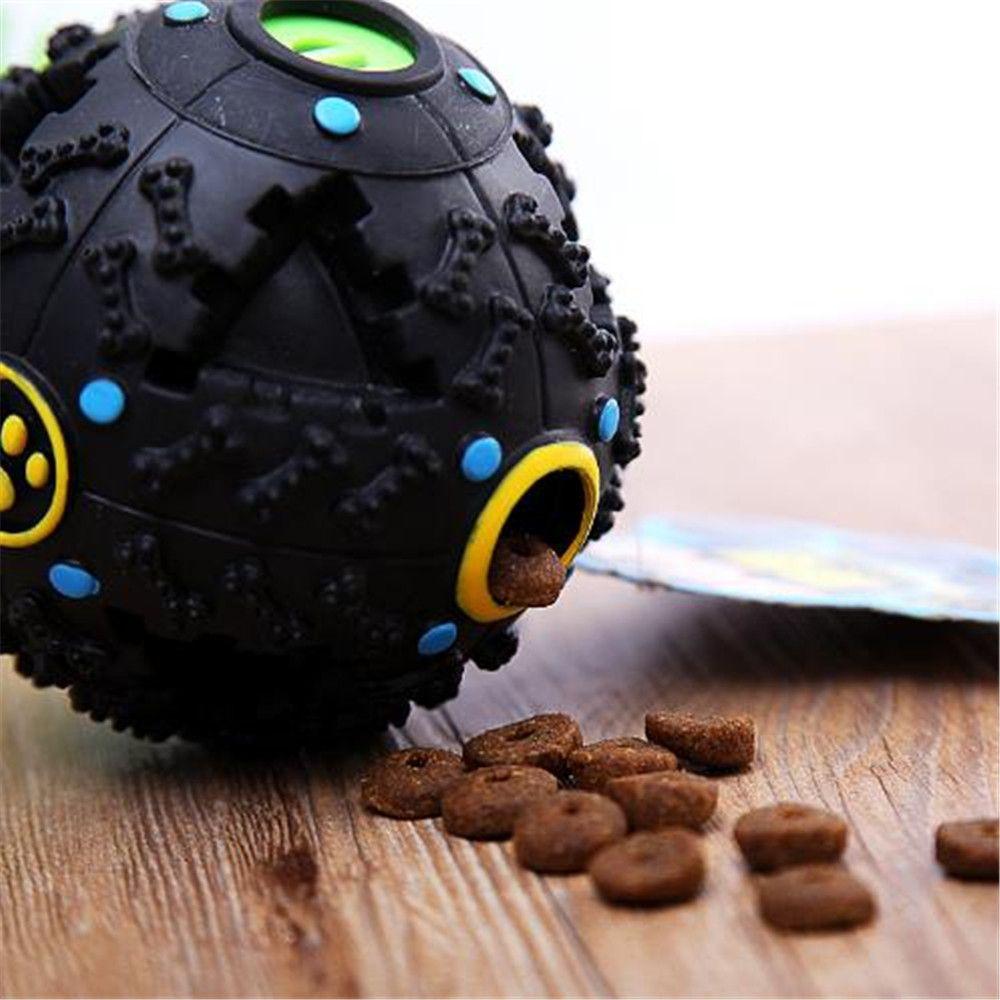 12 CM Hot Sound Leakage Food Ball Dog Toy Pet Shrieking Ball Puzzle Resistant Teeth Bite Toys