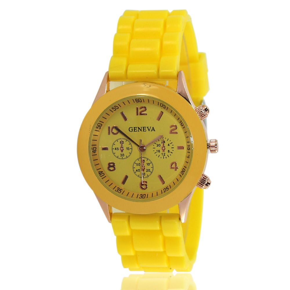 New Popular Women'S Watch Simple and Cute Style Silicone Strap Fashion Sports Watch with Gift Box