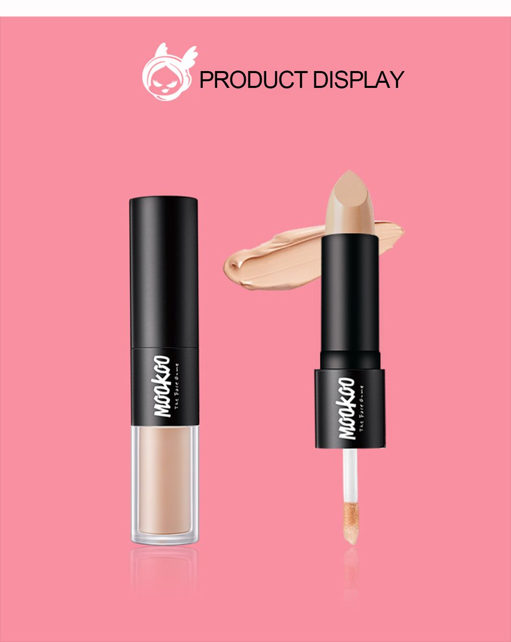 MOOKOO Perfect Ideal Concealer Duo Cover Up Black Eyes and Acne Mark