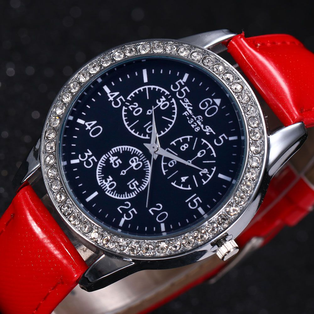 ZhouLianFa New Trend Crystal Pattern Silver Diamond Business Casual Three Quartz Watch with Gift Box